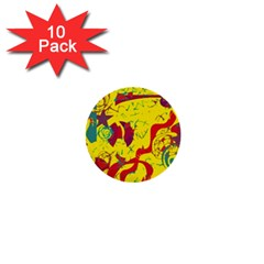 Yellow confusion 1  Mini Buttons (10 pack)