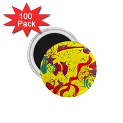Yellow confusion 1.75  Magnets (100 pack)