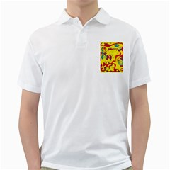 Yellow confusion Golf Shirts