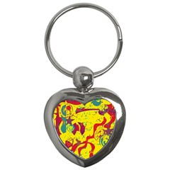 Yellow confusion Key Chains (Heart)