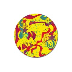 Yellow confusion Magnet 3  (Round)