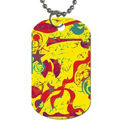 Yellow confusion Dog Tag (One Side)