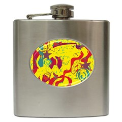 Yellow confusion Hip Flask (6 oz)