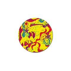 Yellow confusion Golf Ball Marker (10 pack)