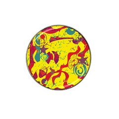 Yellow confusion Hat Clip Ball Marker (10 pack)