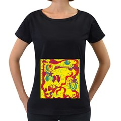 Yellow confusion Women s Loose-Fit T-Shirt (Black)