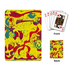 Yellow confusion Playing Card