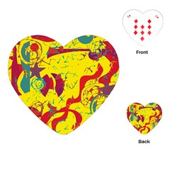 Yellow confusion Playing Cards (Heart)