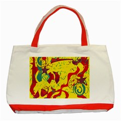 Yellow confusion Classic Tote Bag (Red)
