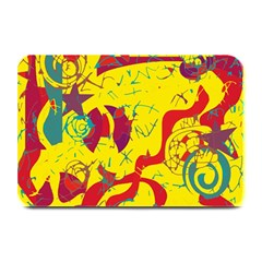 Yellow confusion Plate Mats