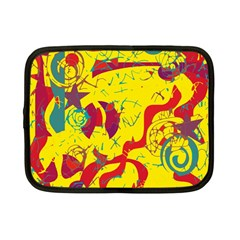 Yellow confusion Netbook Case (Small)