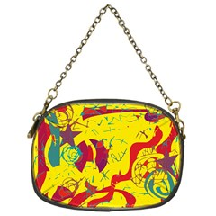 Yellow confusion Chain Purses (One Side)