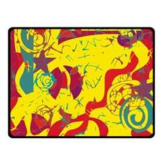 Yellow confusion Fleece Blanket (Small)