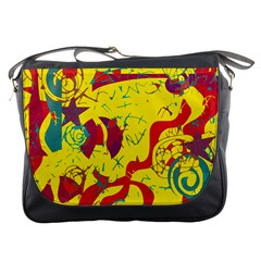 Yellow confusion Messenger Bags