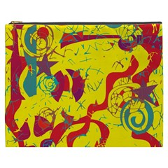 Yellow confusion Cosmetic Bag (XXXL)