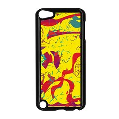 Yellow confusion Apple iPod Touch 5 Case (Black)