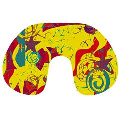 Yellow confusion Travel Neck Pillows