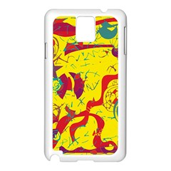 Yellow confusion Samsung Galaxy Note 3 N9005 Case (White)
