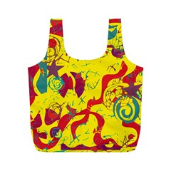 Yellow confusion Full Print Recycle Bags (M)