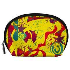 Yellow confusion Accessory Pouches (Large)