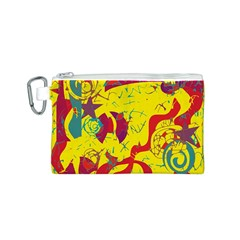 Yellow confusion Canvas Cosmetic Bag (S)