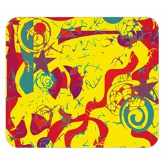 Yellow confusion Double Sided Flano Blanket (Small)