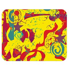 Yellow confusion Double Sided Flano Blanket (Medium)