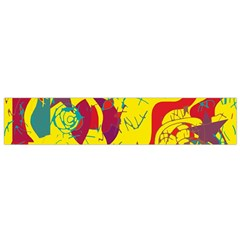 Yellow confusion Flano Scarf (Small)