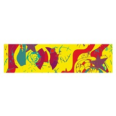 Yellow confusion Satin Scarf (Oblong)