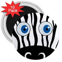 Blue eye zebra 3  Magnets (10 pack)