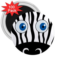 Blue eye zebra 3  Magnets (100 pack)