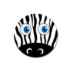 Blue eye zebra Magnet 3  (Round)