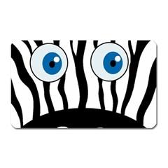 Blue eye zebra Magnet (Rectangular)