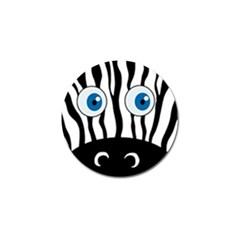 Blue eye zebra Golf Ball Marker (4 pack)