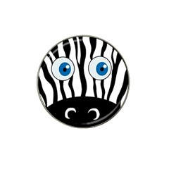 Blue eye zebra Hat Clip Ball Marker