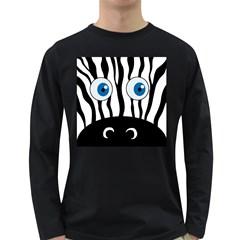 Blue eye zebra Long Sleeve Dark T-Shirts