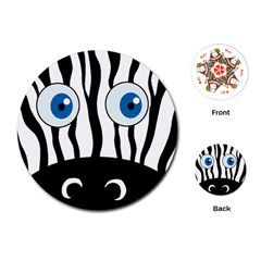 Blue eye zebra Playing Cards (Round)
