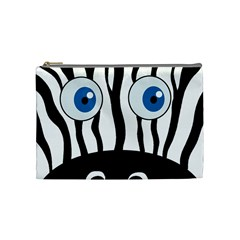 Blue eye zebra Cosmetic Bag (Medium)