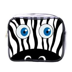 Blue eye zebra Mini Toiletries Bags