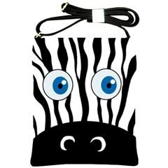 Blue eye zebra Shoulder Sling Bags
