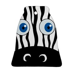 Blue eye zebra Bell Ornament (2 Sides)