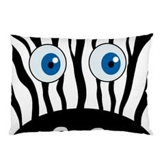 Blue eye zebra Pillow Case (Two Sides)