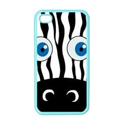 Blue eye zebra Apple iPhone 4 Case (Color)