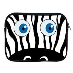 Blue eye zebra Apple iPad 2/3/4 Zipper Cases