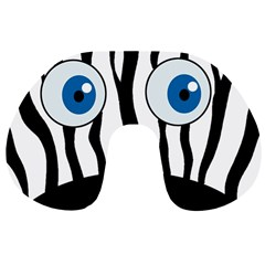 Blue eye zebra Travel Neck Pillows