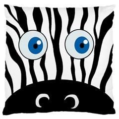 Blue eye zebra Large Flano Cushion Case (Two Sides)