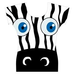 Blue eye zebra Women s Cap Sleeve Top