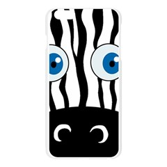 Blue eye zebra Apple Seamless iPhone 6 Plus/6S Plus Case (Transparent)