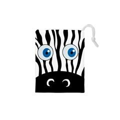 Blue eye zebra Drawstring Pouches (XS)