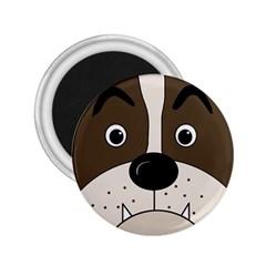 Bulldog face 2.25  Magnets